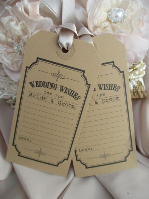 10 Wish Tags Wedding Wishes for the Bride & Groom
